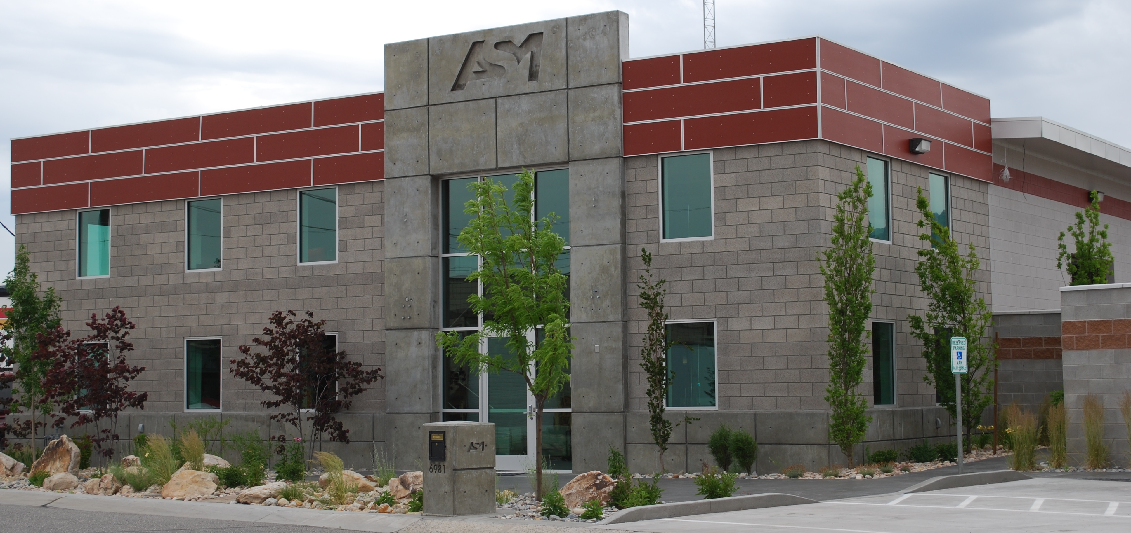 Picture of new ASM office building