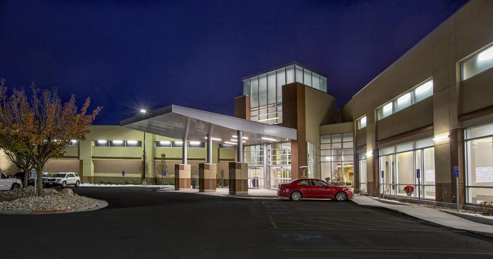 ogden regional medical center renovation entry night